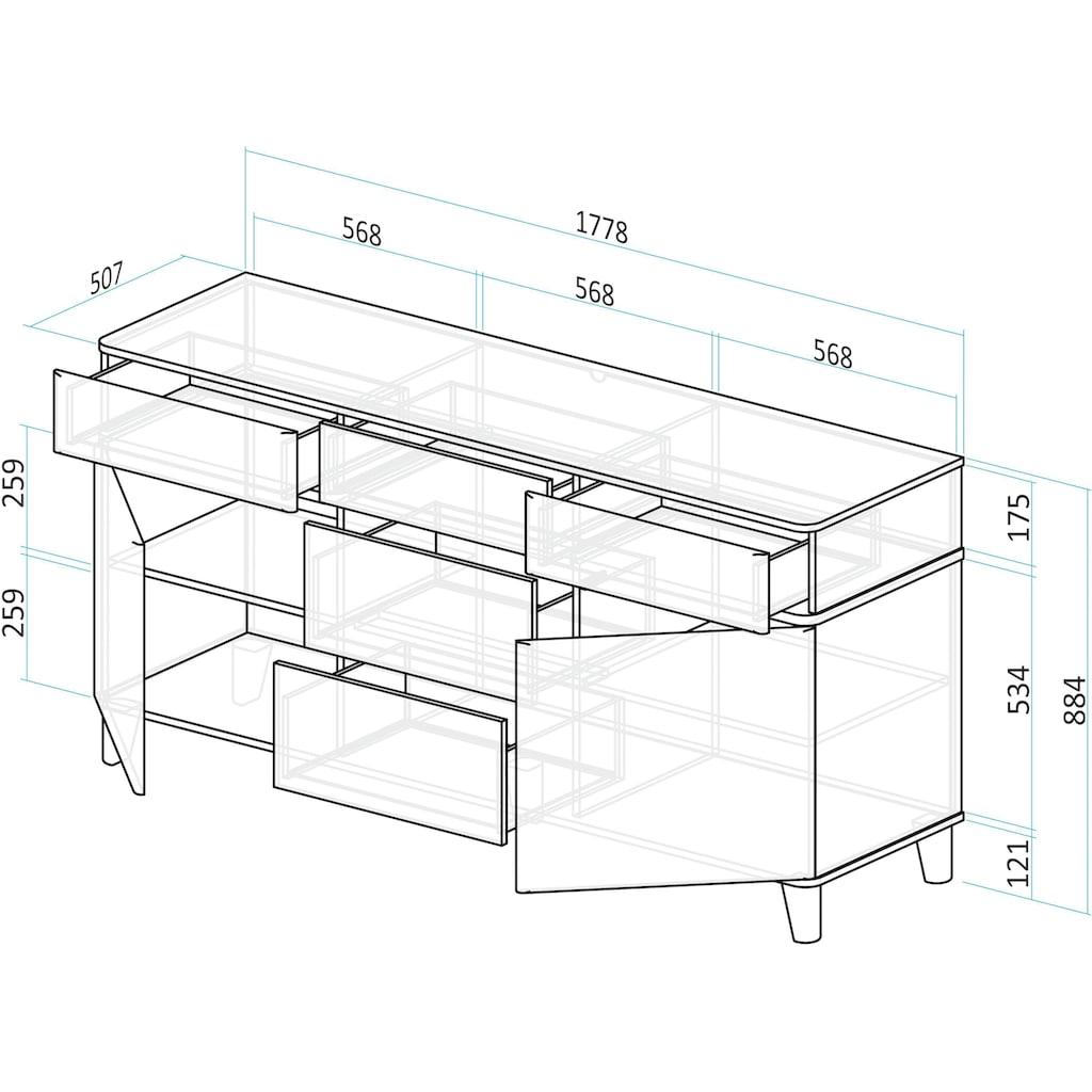 INOSIGN Sideboard »Rula«, 2-türig, 178,5cm breit