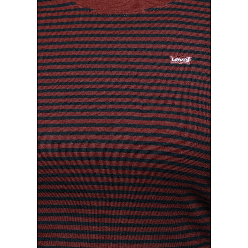 Levi's® Plus Rundhalsshirt »LS Baby Tee«, mit Logostickerei