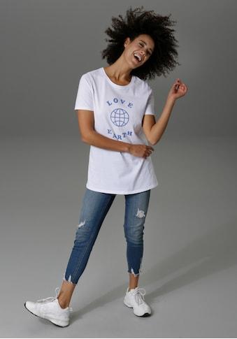 Aniston CASUAL T-Shirt, mit Druck und Statement-Schriftzug kaufen