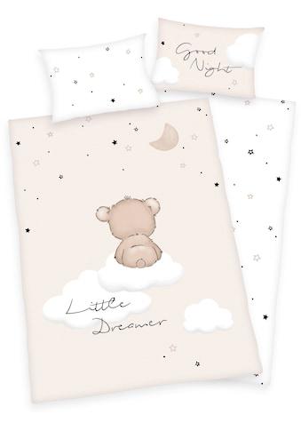 Baby Best Babybettwäsche »Little Dreamer«, mit niedlichem Teddy-Motiv und Schriftzug kaufen
