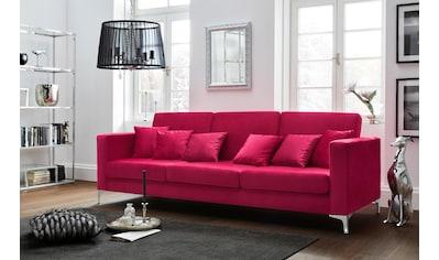 Leonique 3-Sitzer »Miami«, mit Chromfüßen, in auffälligem Farbton kaufen