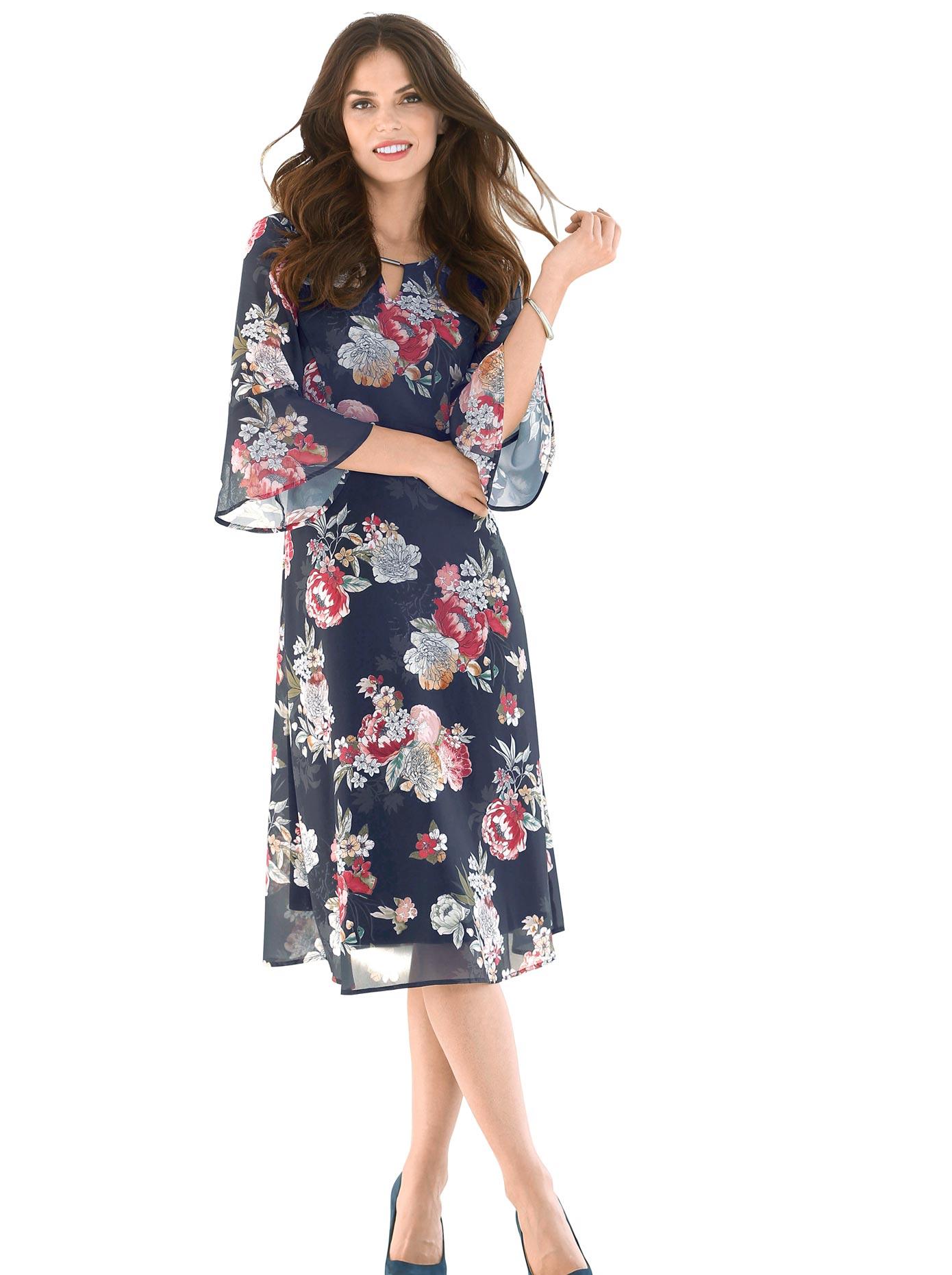 Lady Kleid mit breiter Taillenblende