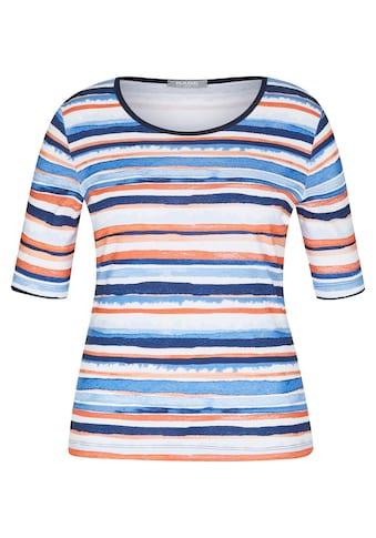Rabe Rundhalsshirt, mit gestreiftem Muster und Rundhalsausschnitt kaufen