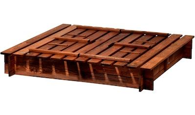 DOBAR Sandkasten , BxL: 118x118 cm, mit Abdeckung kaufen
