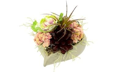 I.GE.A. Kunstblume, im herzförmigen Topf kaufen