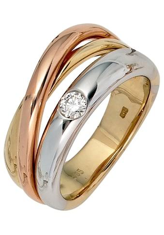 JOBO Diamantring, 585 Gold dreifarbig tricolor mit Diamant 0,15 ct. kaufen