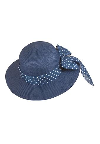 Chaplino Strohhut, mit gepunktetem Hutband kaufen