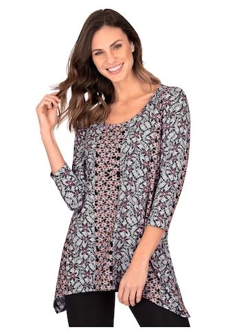 Trigema Longshirt, mit floralem Muster kaufen