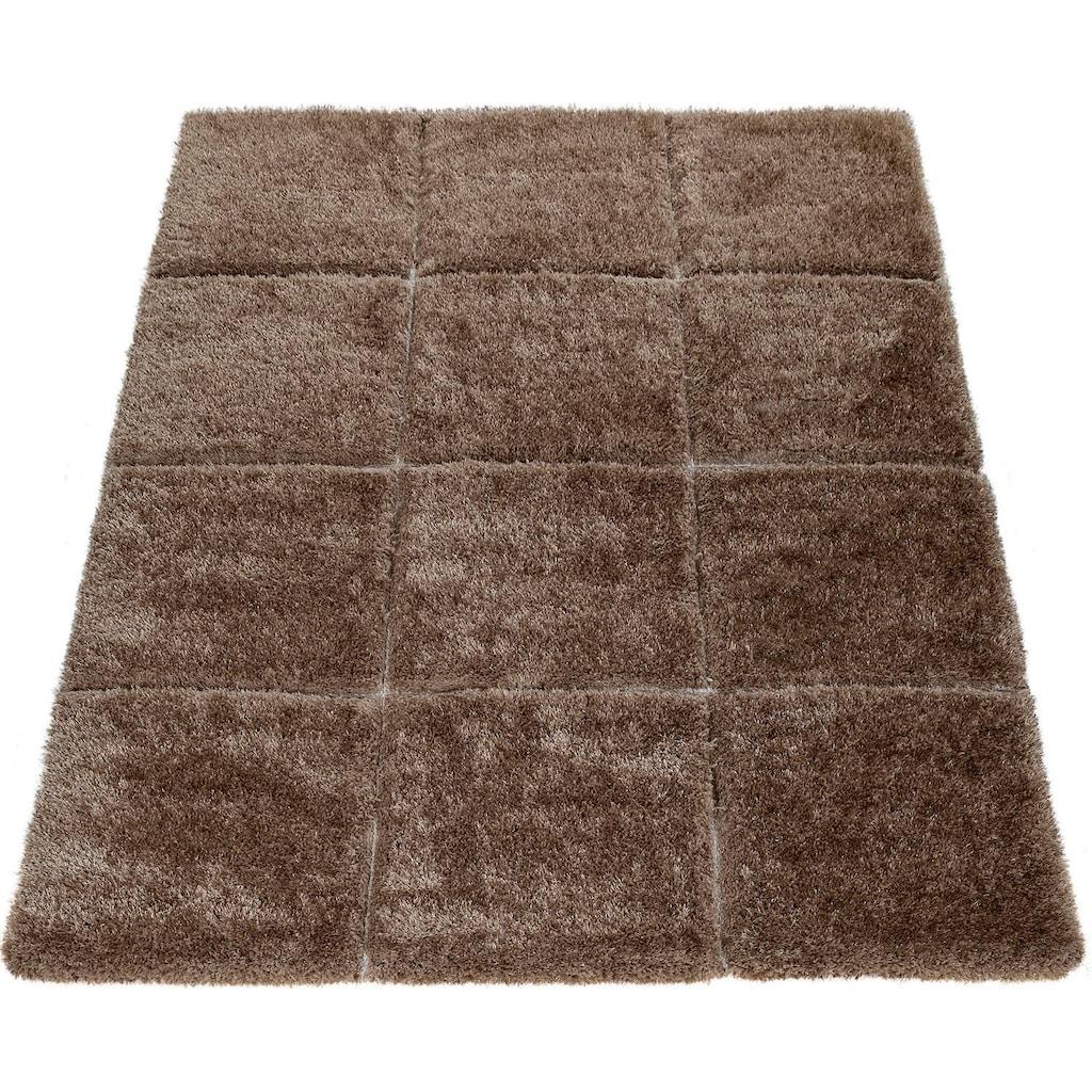 Paco Home Hochflor-Teppich »Palma 336«, rechteckig, 45 mm Höhe, Hochflor-Shaggy mit 3D-Muster, Wohnzimmer