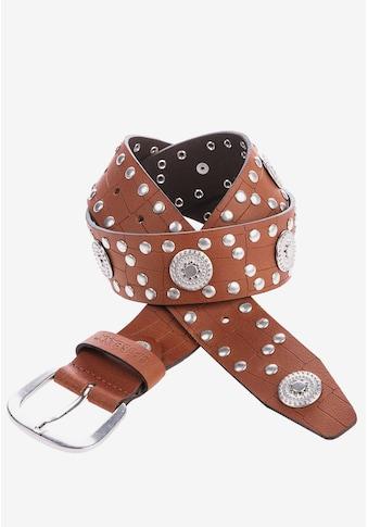 Cipo & Baxx Ledergürtel, mit Nietenverzierung kaufen