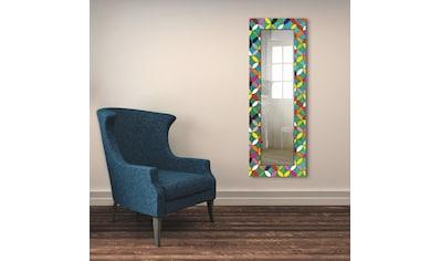 Artland Wandspiegel »Bunte Kreise auf grün«, gerahmter Ganzkörperspiegel mit... kaufen