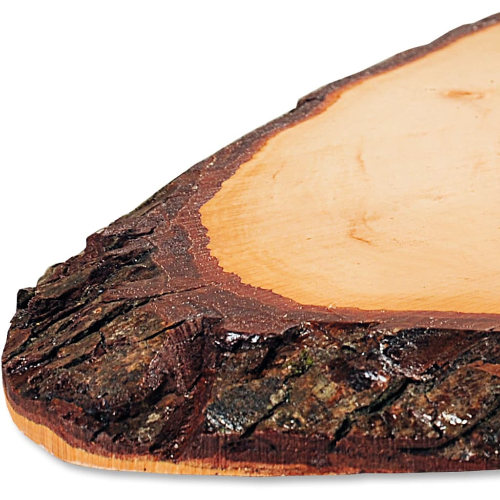 KESPER for kitchen & home Servierbrett, aus einer Baumscheibe gefertigt