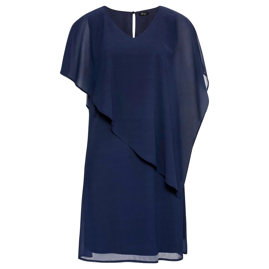 Sheego Cocktailkleid, mit asymetrischem Cape
