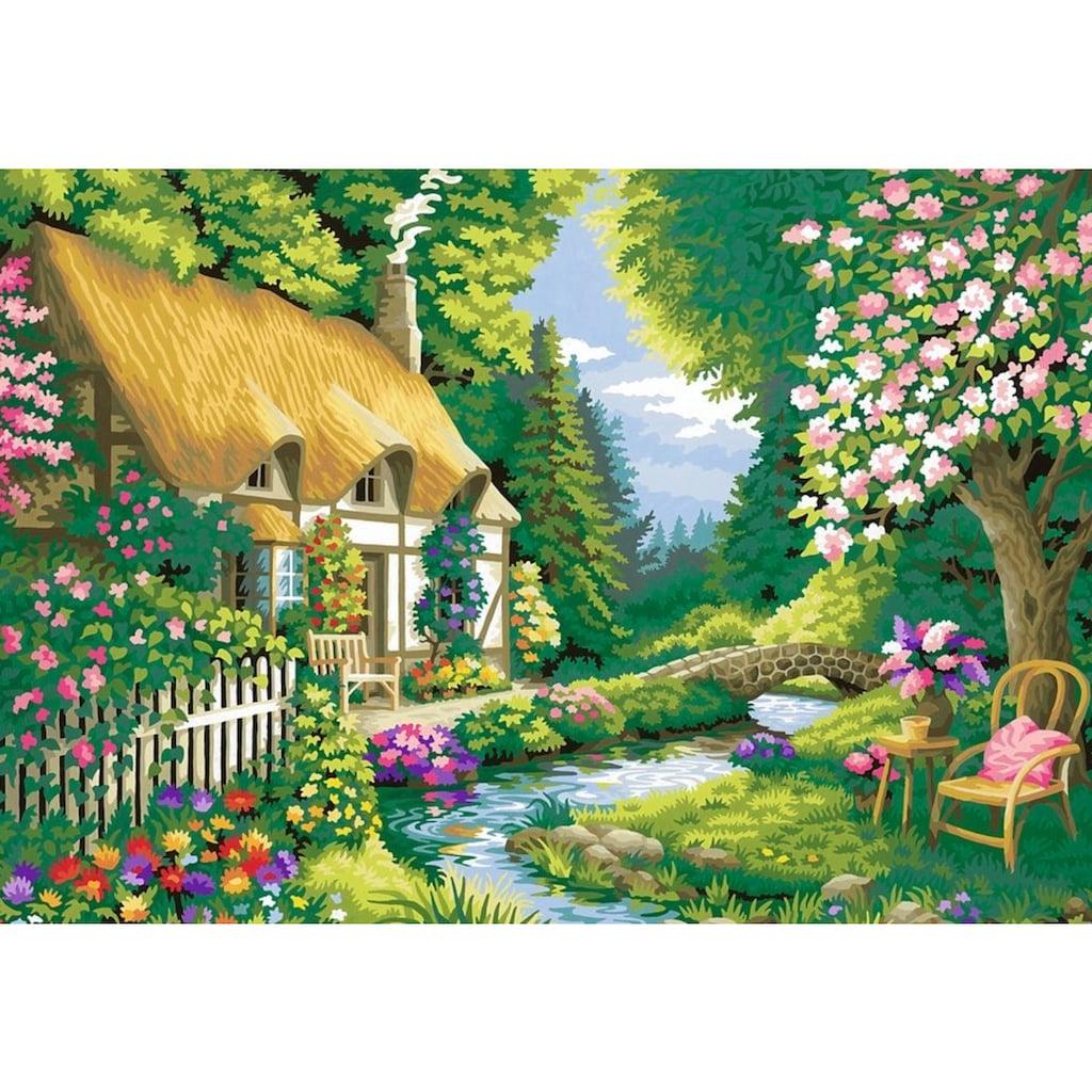 Ravensburger Malen nach Zahlen »Cottage Gardene«, Made in Europe, FSC® - schützt Wald - weltweit