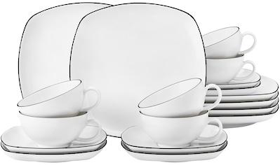 """Seltmann Weiden Teeservice """"Lido"""" (18 - tlg.), Porzellan kaufen"""