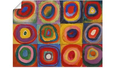 Artland Wandbild »Quadrate und konzentrische Ringe. 1913«, Muster, (1 St.), in vielen... kaufen