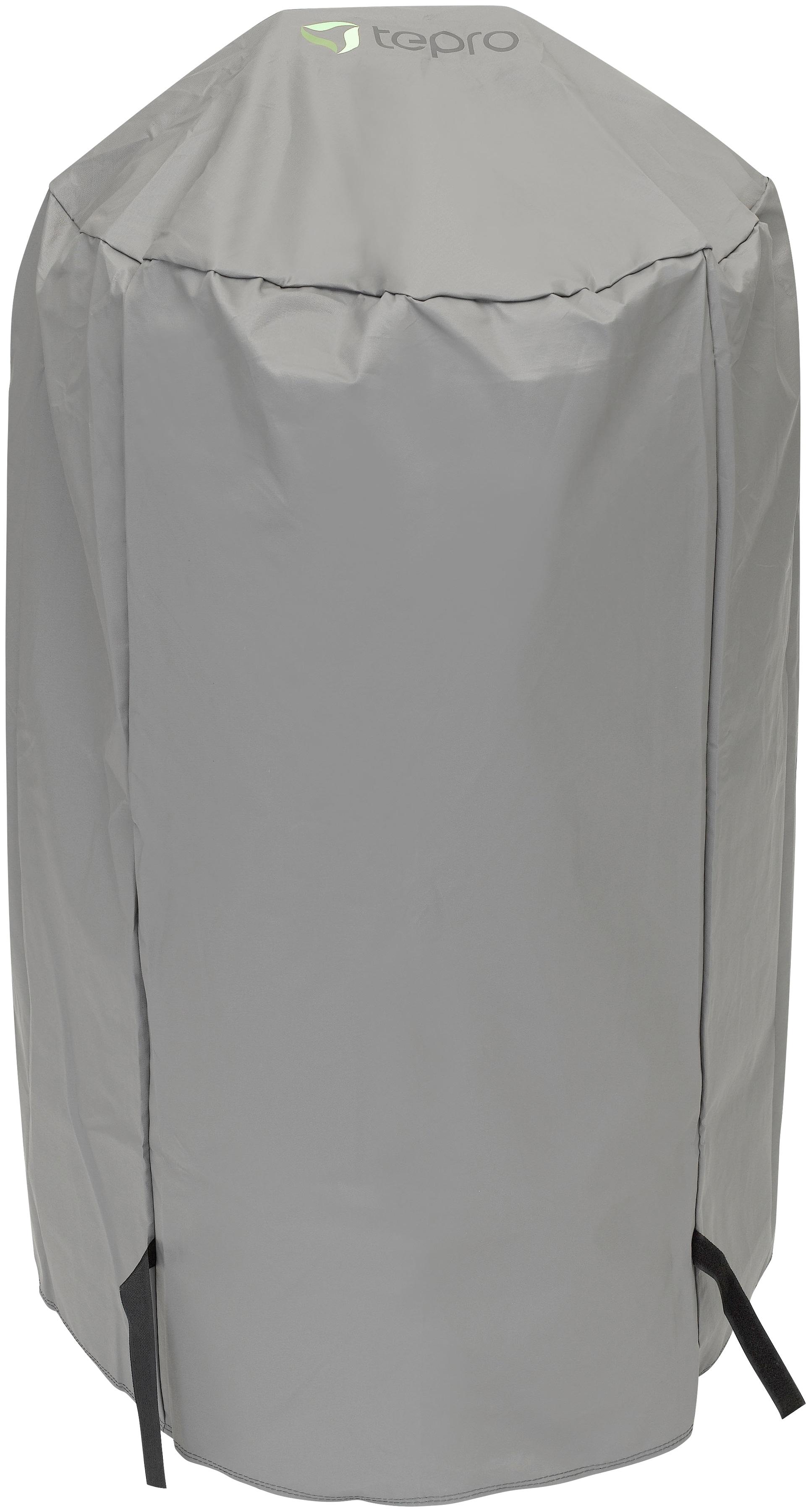 Tepro Grill-Schutzhülle, BxLxH: 57x57x85 cm, für Kugelgrill klein grau Zubehör Grills Garten Balkon Grill-Schutzhülle