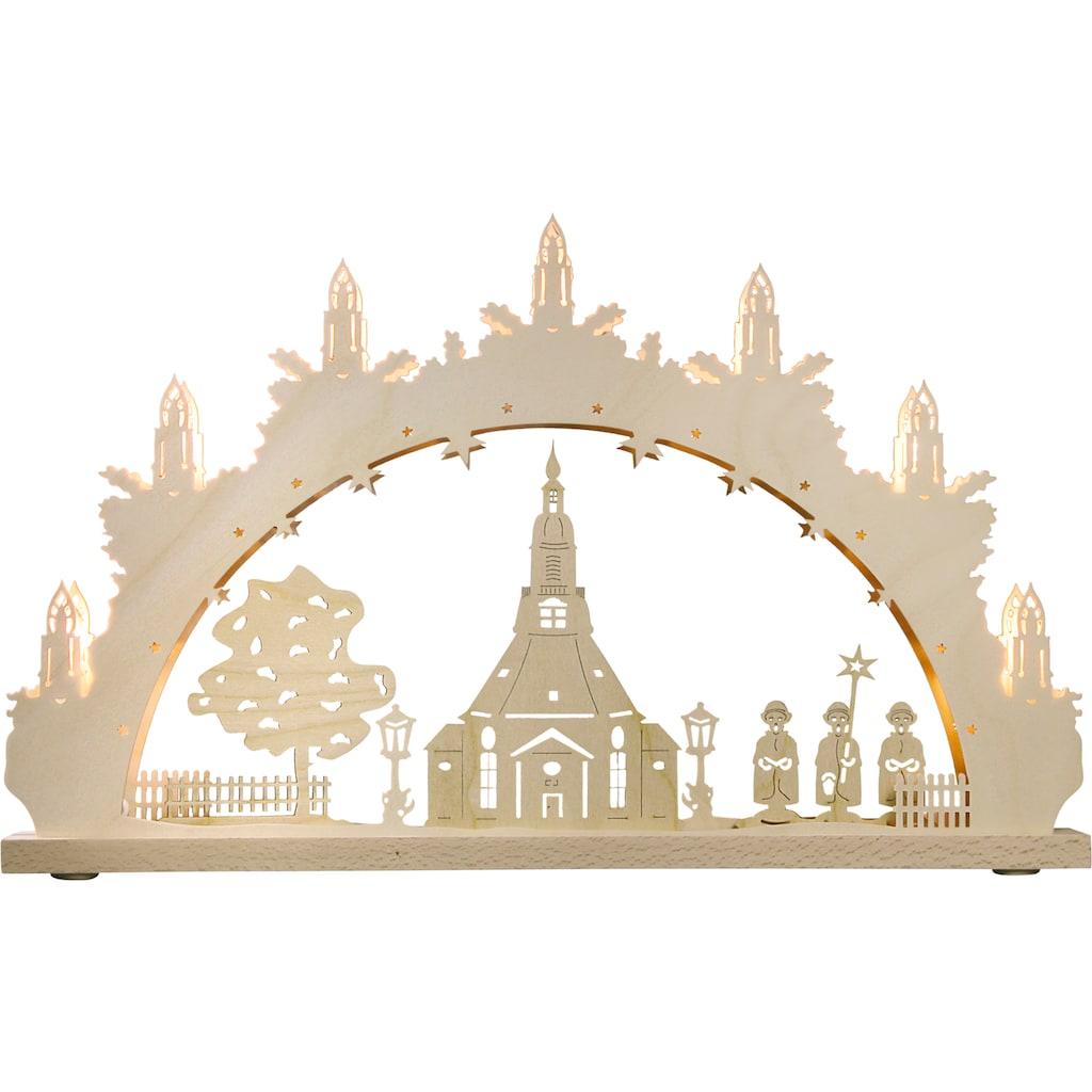 Weigla LED Schwibbogen »Seiffener Kirche«, 1 tlg., 7-flammig