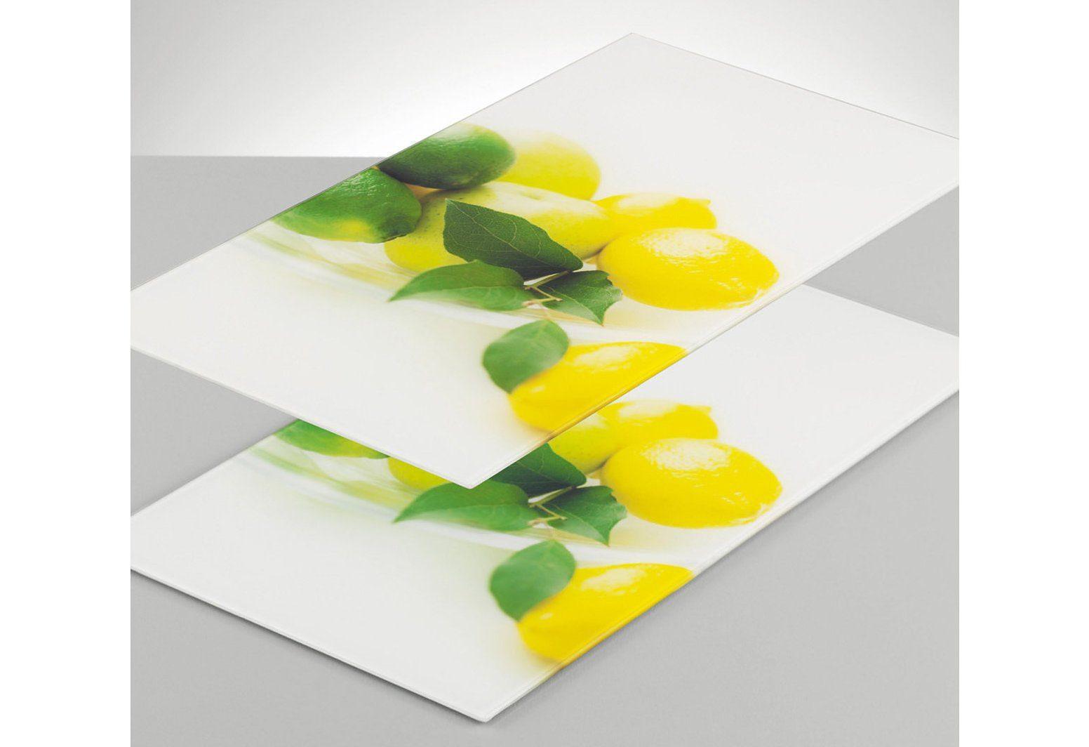 Set: Glasschneideplatten  Zitrone  (2-tlg.), Zeller Preisvergleich