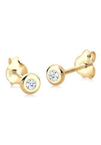 Diamore Paar Ohrstecker »Basic Elegant Klassisch Diamant 585 Gelbgold« kaufen