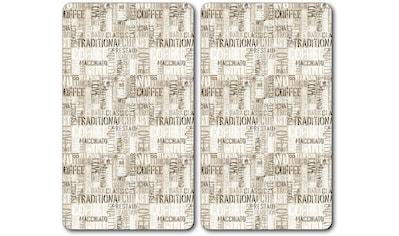 KESPER for kitchen & home Schneide- und Abdeckplatte »Coffee Letters«, Multi-Glasschneideplatte kaufen