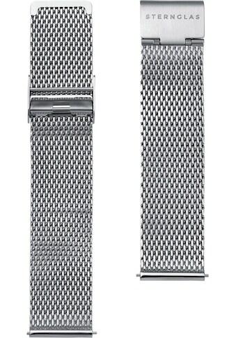 STERNGLAS Uhrenarmband »Milanaise 20 silber, SBA00/403« kaufen