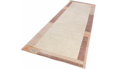 LUXOR living Läufer »India«, rechteckig, 20 mm Höhe, Teppich-Läufer, reine Wolle, handgeknüpft, mit Bordüre, Flur kaufen