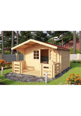 OUTDOOR LIFE PRODUCTS Set: Gartenhaus »Viljandi 484«, BxT: 320x445 cm, inkl. Terrasse, Fußboden und Dachschindeln kaufen