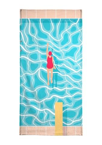 Juniqe Strandtuch »Pool«, Weiche Frottee-Veloursqualität kaufen