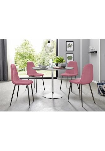 my home Essgruppe, (Set, 5 tlg.), mit rundem Tisch im Zement-Optik kaufen