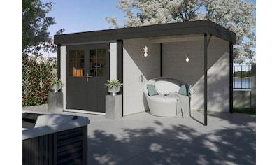 Kiehn - Holz Set: Gartenhaus »Großensee 2«, BxT: 475x248 cm, inkl. Aufbau und Anbaudach mit Rückwand kaufen