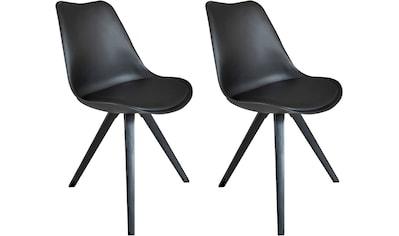Homexperts Esszimmerstuhl »Kaja 02«, Sitzschale mit Sitzkissen in Kunstleder kaufen