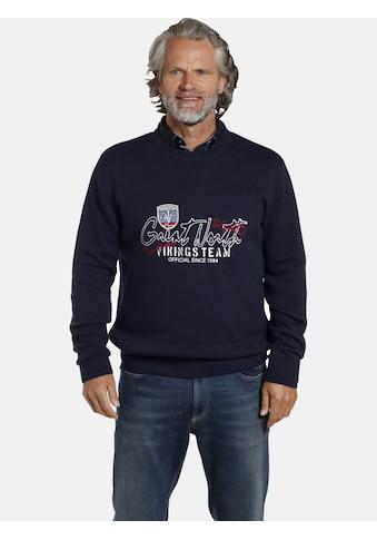 Jan Vanderstorm Rundhalspullover »TJURE«, robuster Baumwollpullover kaufen