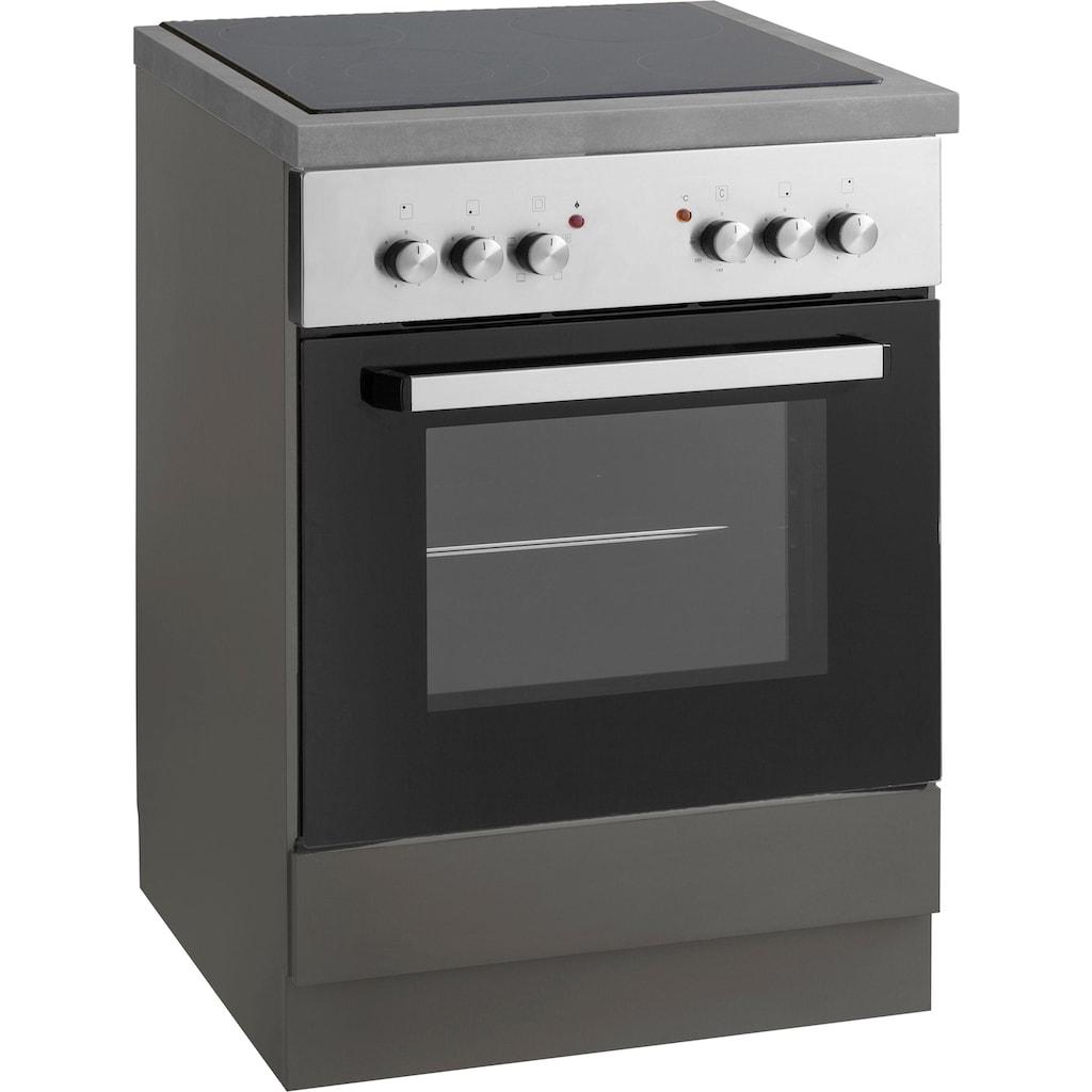 wiho Küchen Herdumbauschrank »Esbo«, Arbeitsplatte ohne Ausschnitt für Kochfeld