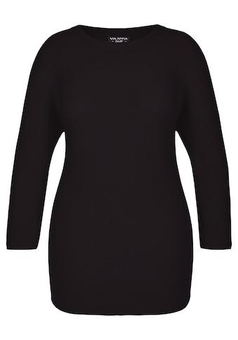 VIA APPIA DUE Modischer Pullover mit Strickstruktur Plus Size kaufen