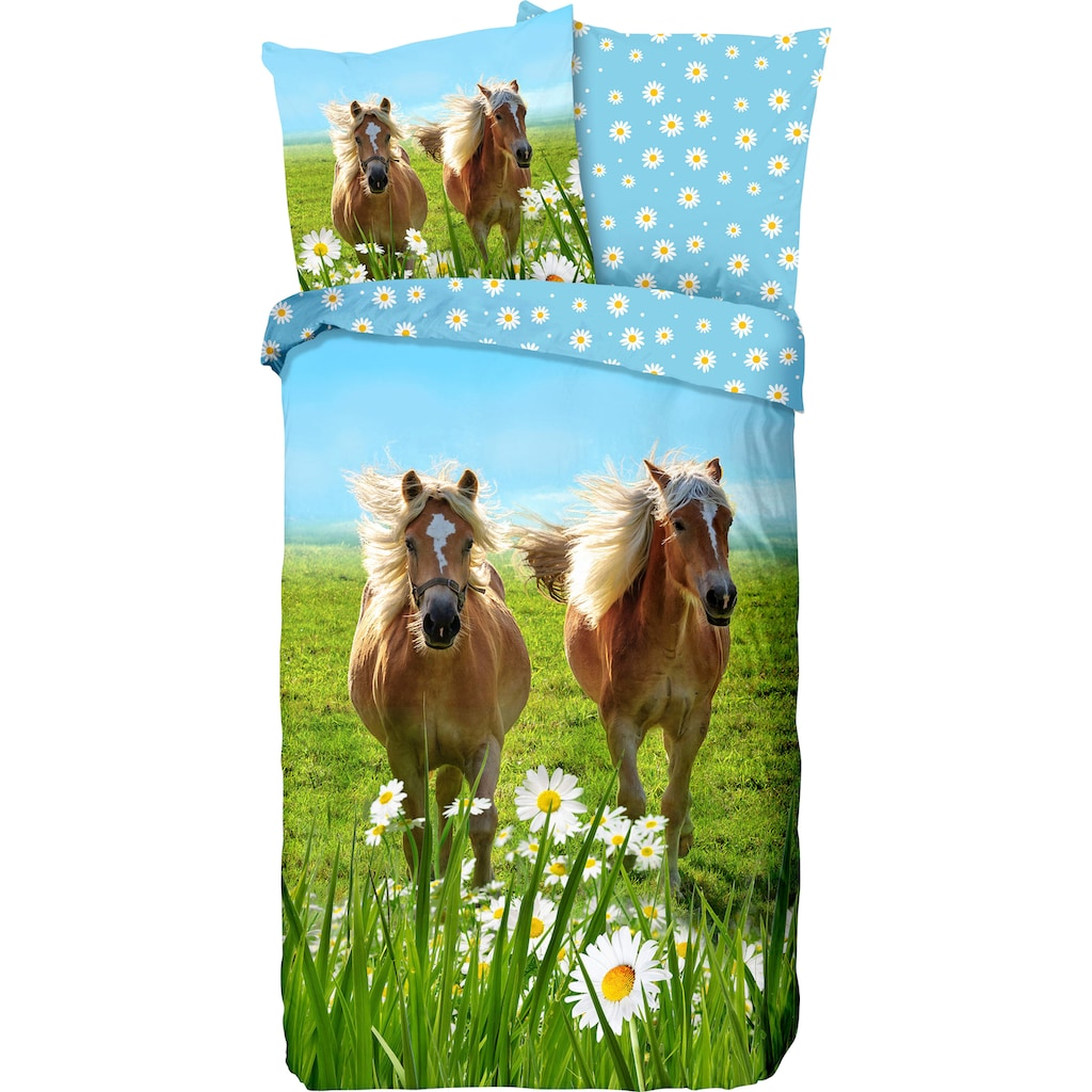 good morning Kinderbettwäsche »Horses«, mit Pferden