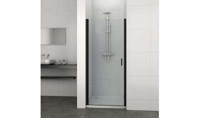 Sanotechnik Schwingtür »ELITE«, Schwenkttür für Duschen mit Alu-Profilen in schwarz matt kaufen