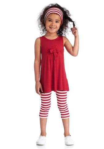 KIDSWORLD Kleid, Leggings & Haarband, Capri und Haarband maritim geringelt kaufen