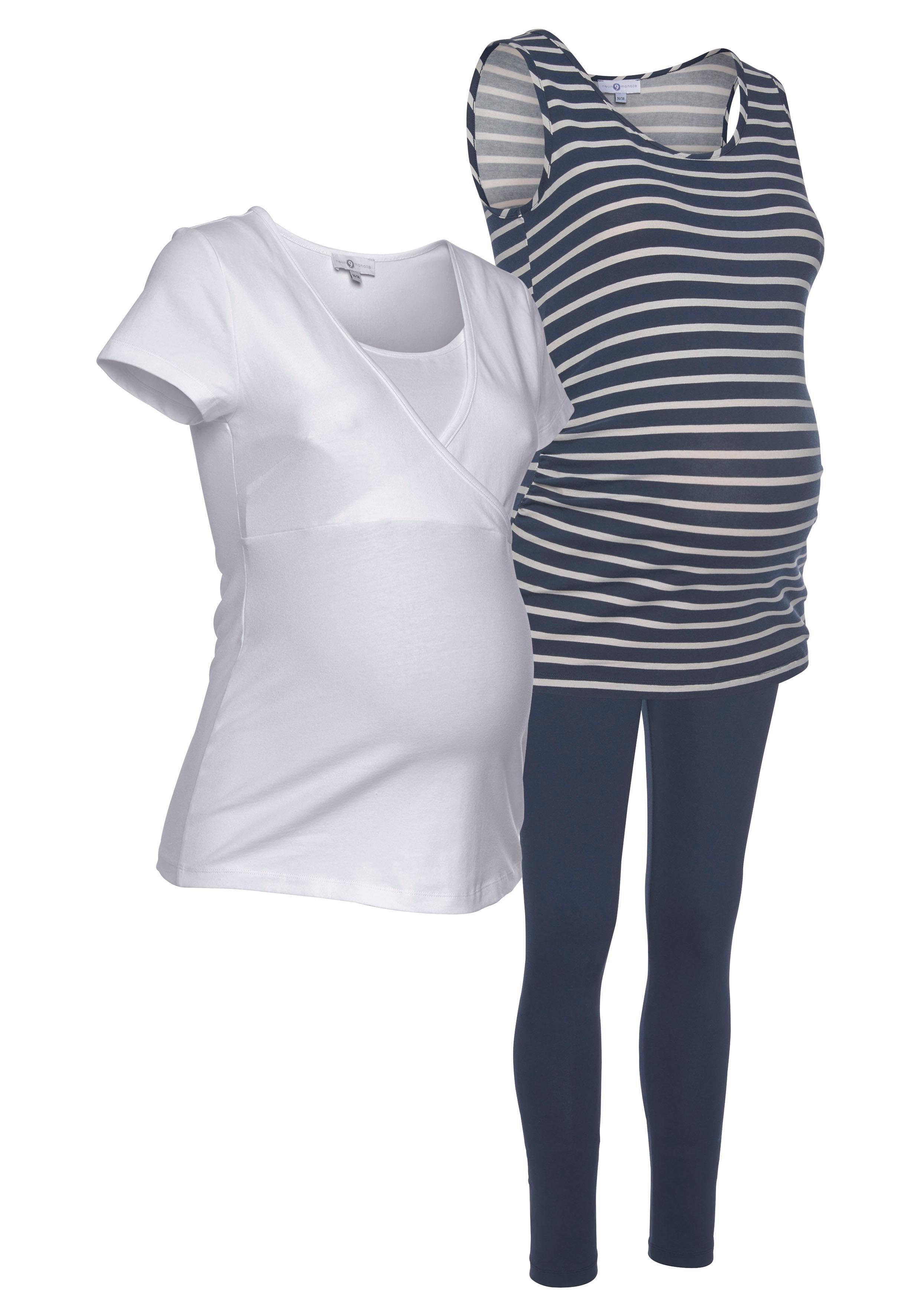 Neun Monate Umstands-Set (Set) Damenmode/Bekleidung/Umstandsmode/Umstandsshirts/T-Shirts