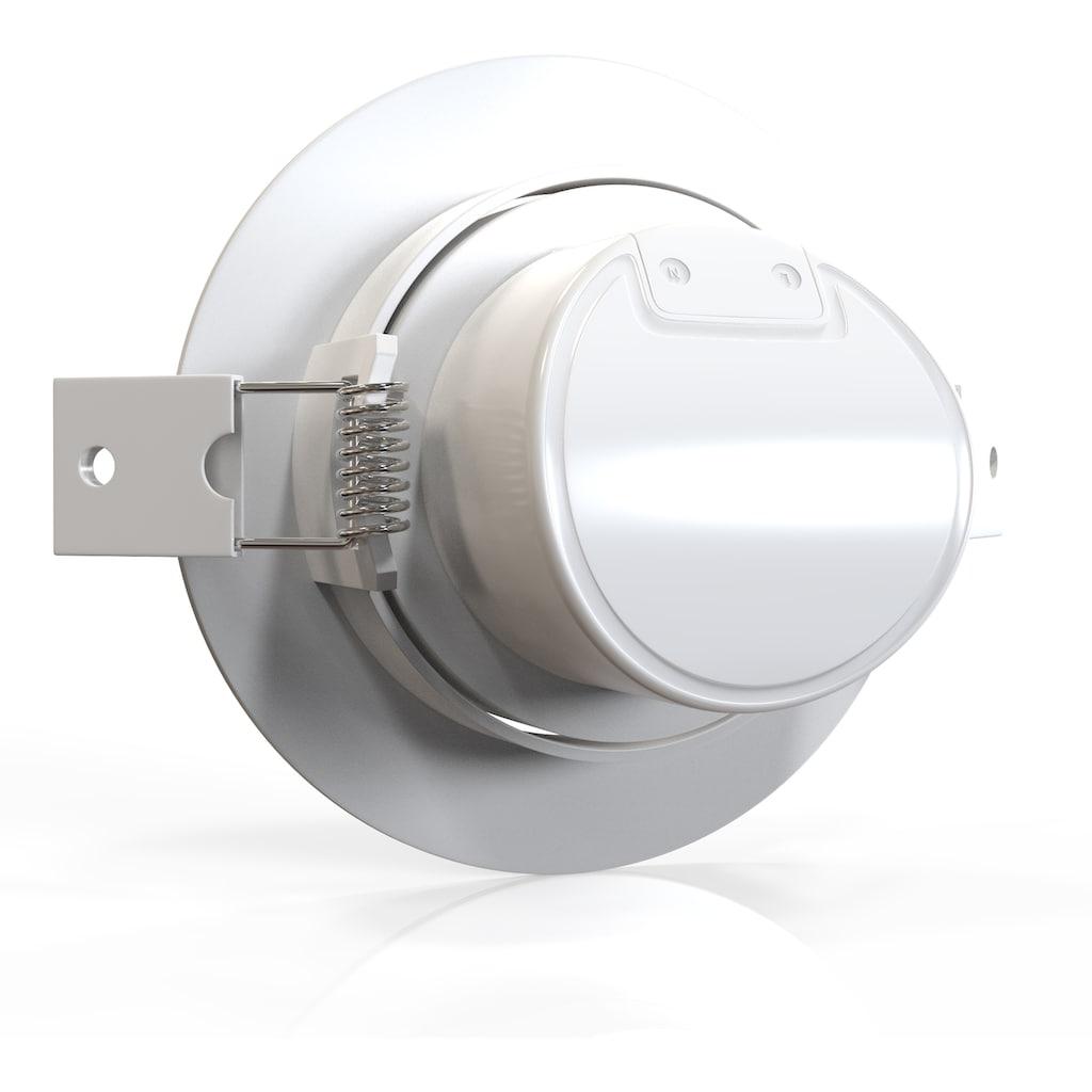 B.K.Licht LED Einbauleuchte »Alcor«, LED-Board, Warmweiß, LED Einbaustrahler Spots Flach Einbau Deckenleuchte Lampe 90mm inkl. 5W 350lm