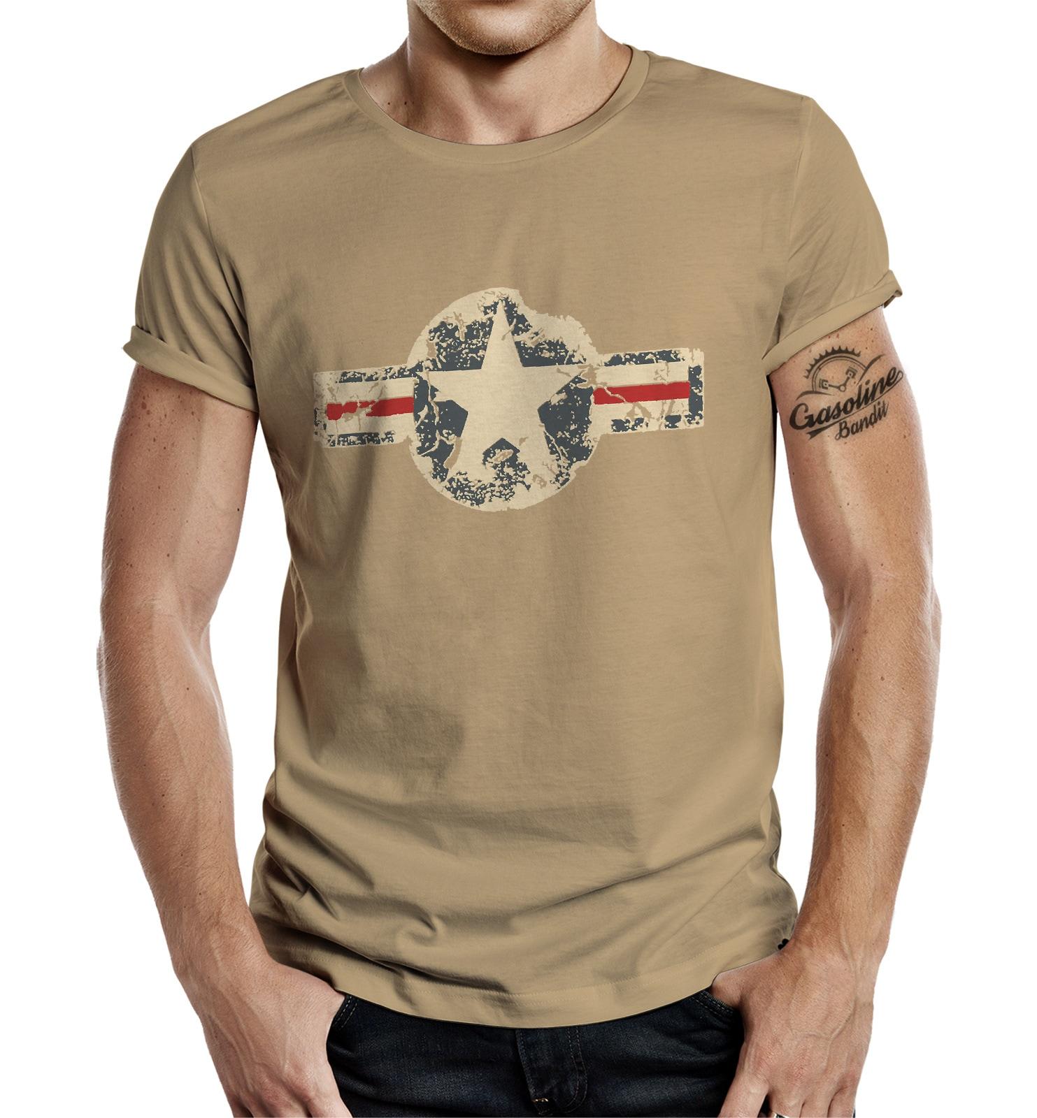 GASOLINE BANDIT T-Shirt im angesagten Army-Look | Bekleidung > Shirts > T-Shirts | Beige | Gasoline Bandit