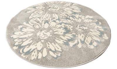 my home Teppich »Vaiana«, rund, 14 mm Höhe, Blumen Design, Wohnzimmer kaufen