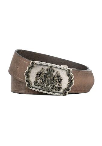 Der Trachtler Ledergürtel, mit geprägtem Leder kaufen