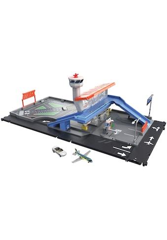 MATCHBOX Spiel-Gebäude »Flughafen Set«, mit Geräuschen, Spielzeugauto und Flugzeug kaufen