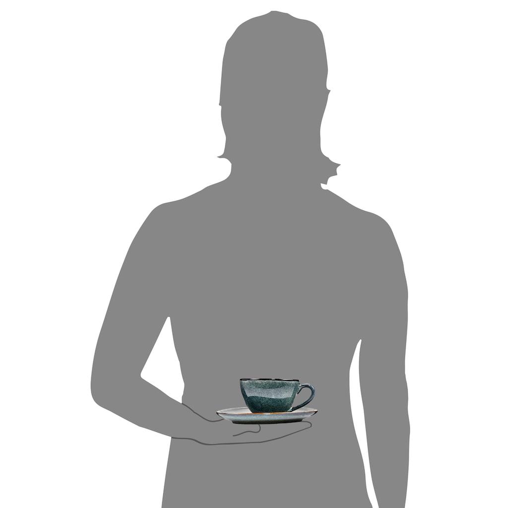 SÄNGER Tasse »Darwin«, (8 tlg., Teetassen Darwin aus Porzellan 8 teilig)