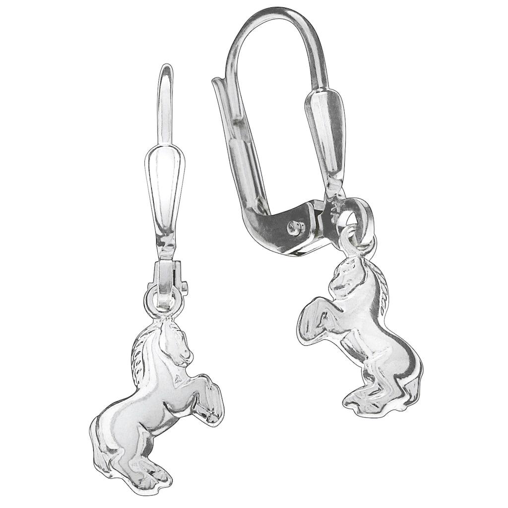 Firetti Paar Ohrhänger »Pferd, in glänzender Optik, rhodiniert«