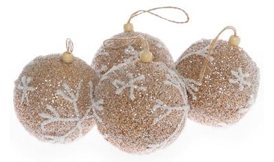 Weihnachtsbaumkugel »Schneeflocken«, (Set, 8 St.) kaufen