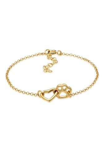 Elli Armband »Kinder Pfote Hund Katze Herz 925 Silber« kaufen