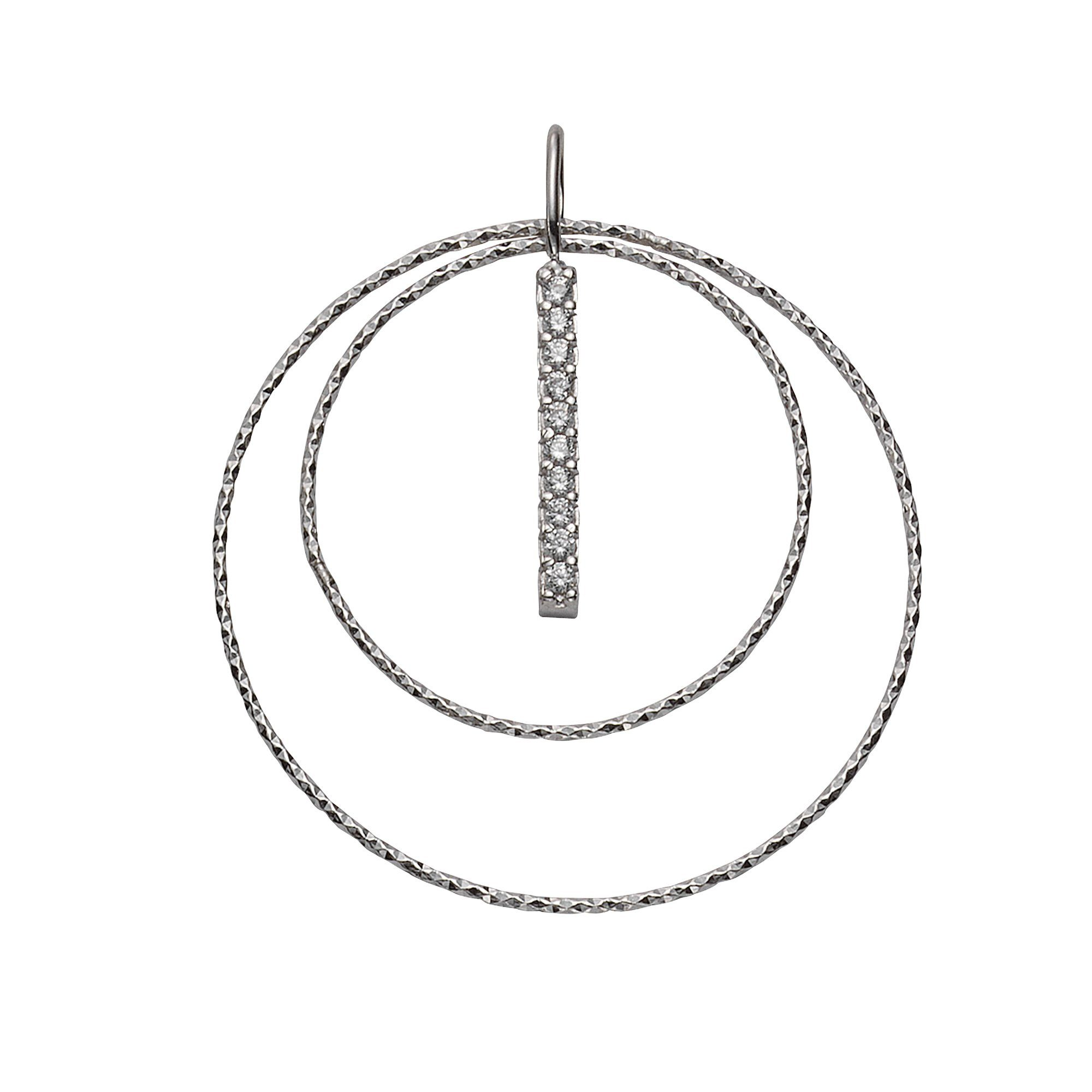 VIVANCE Anhänger 925/- Sterling Silber Zirkonia | Schmuck > Halsketten > Ketten ohne Anhänger | Weiß | Vivance