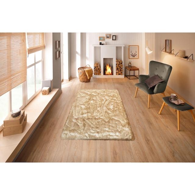 Hochflor-Teppich, »Sammo«, my home, rechteckig, Höhe 60 mm, gedruckt